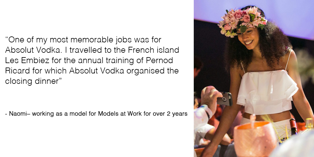 Naomi tells about her favorite job for Models at Work
