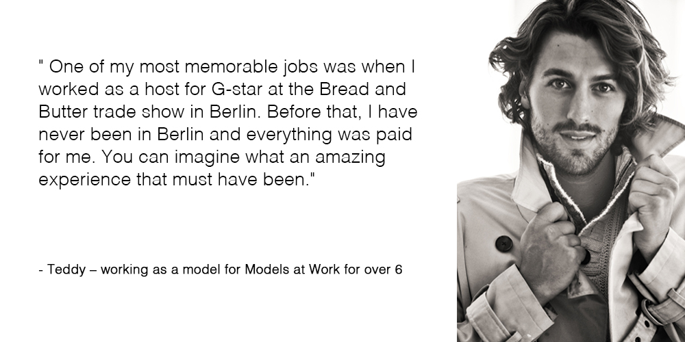 Teddy tells about her favorite job for Models at Work
